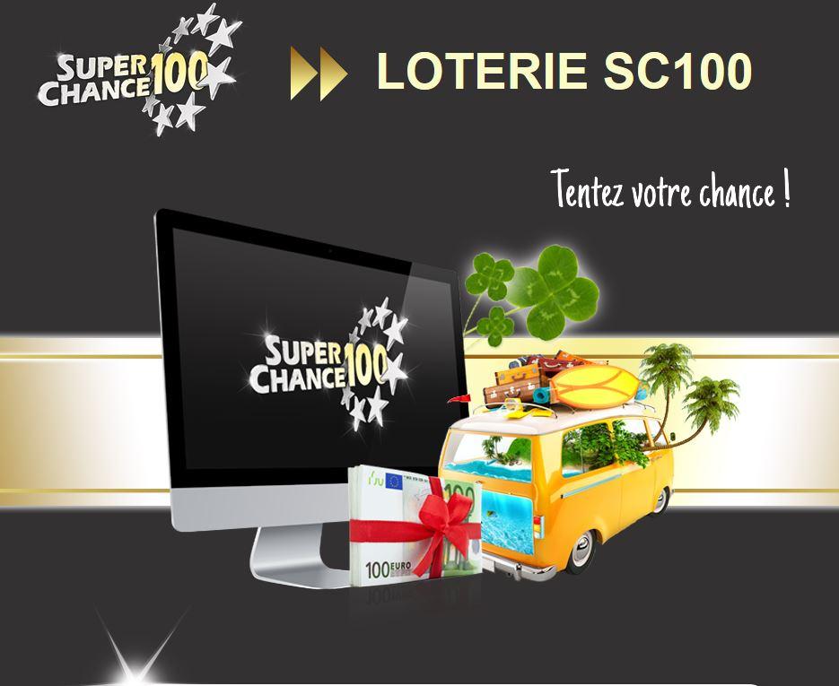 La page du jeu concours de SuperChance100.