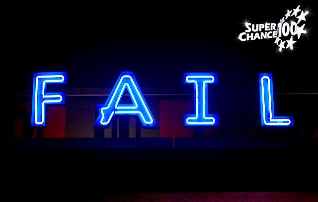 """Photographie du mot """"FAIL"""" en néon."""