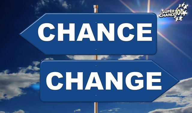 """Panneaux directionnels où il est inscrit """"chance"""" et """"change""""."""