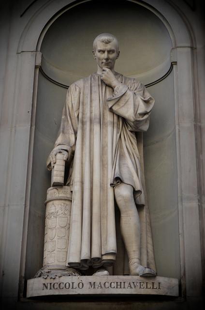 Statue de Machiavel à Florence en Italie.