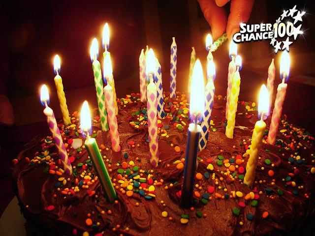 Photographie d'un gâteau d'anniversaire.
