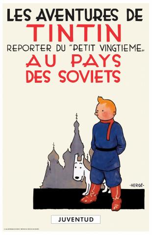 Photographie de l'album Tintin au pays des soviets.