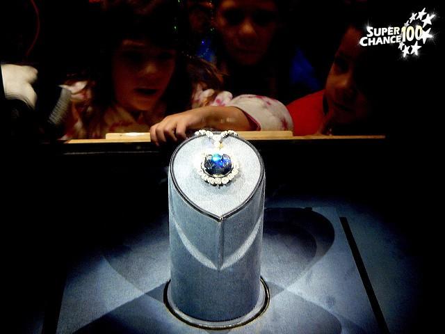 L'exposition du diamant Hope.