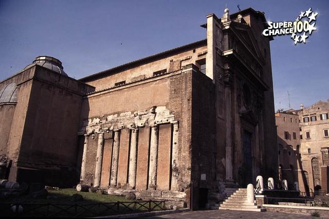 Façade du temple de Spes à Rome.