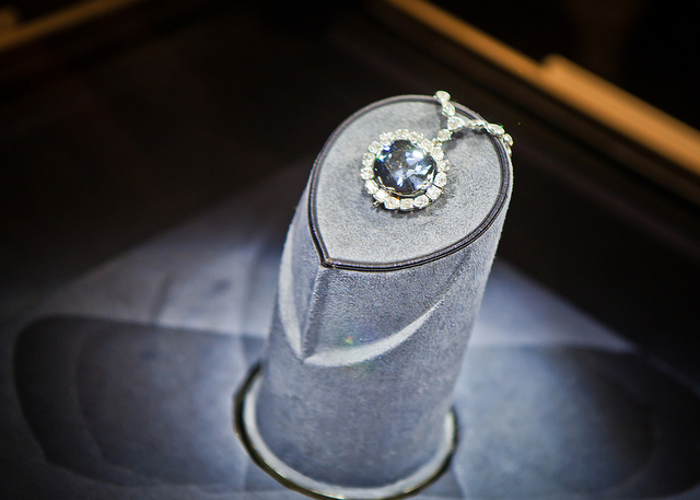 Le diamant Hope au Smithsonian Institute.