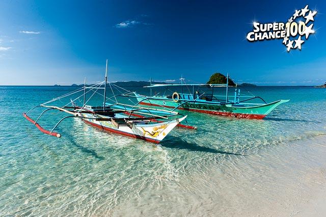 Photographie de bateaux de l'île Palawan dans les Philippines.
