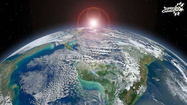 La Terre et le Soleil dans l'univers.