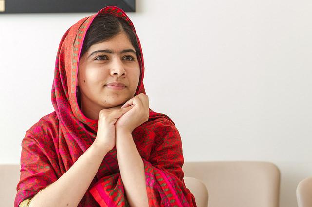 Malala Yousafzai, militante pakistanaise pour l'éducation des filles dans le monde.