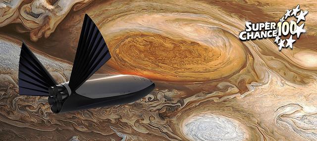 Montage numérique illustrant le projet de colonisation de Mars d'Elon Musk.