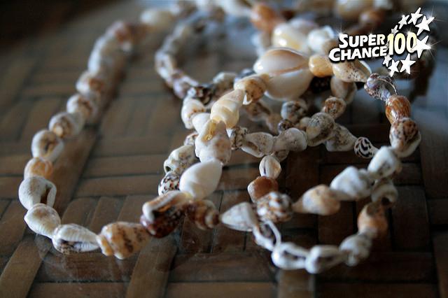 Collier de coquillages hawaïen.