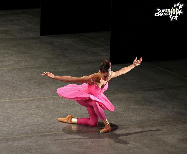 Misty Copeland, première danseuse étoile noire de l'Histoire, en pleine représentation.