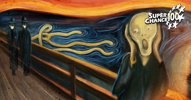 Peinture inspirée de l'œuvre de Munch, le cri.