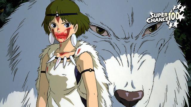 Personnage principal du film d'Hayao Miyazaki, la princesse Mononoke.