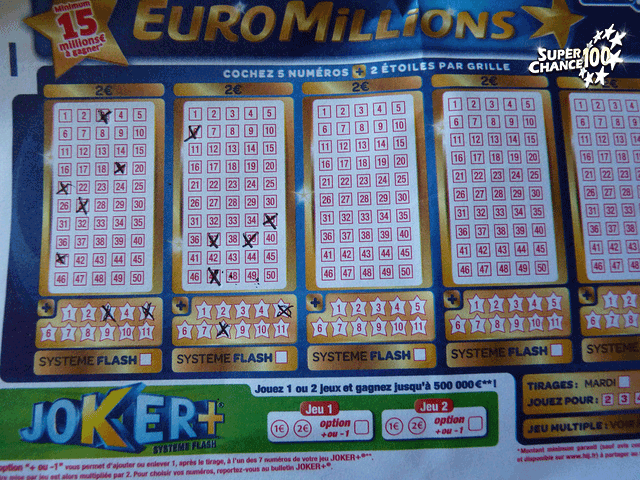 Grille d'Euro Millions.