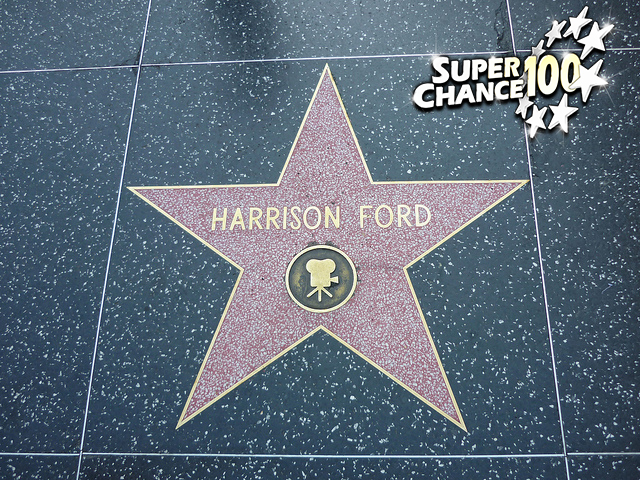 L'étoile du Walk of Fame d'Hollywood d'Harrison Ford.
