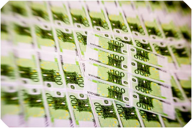 Planches imprimées de billets de 100 euros.