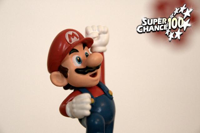 Photographie d'une figurine de Super Mario.