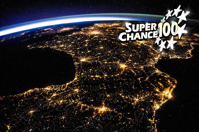 Photographie de la France vue de l'espace.