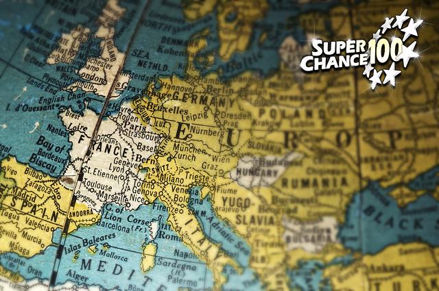 Photographie d'un globe terrestre centré sur l'Europe.
