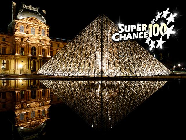 Photographie de la place du musée du Louvre à Paris.