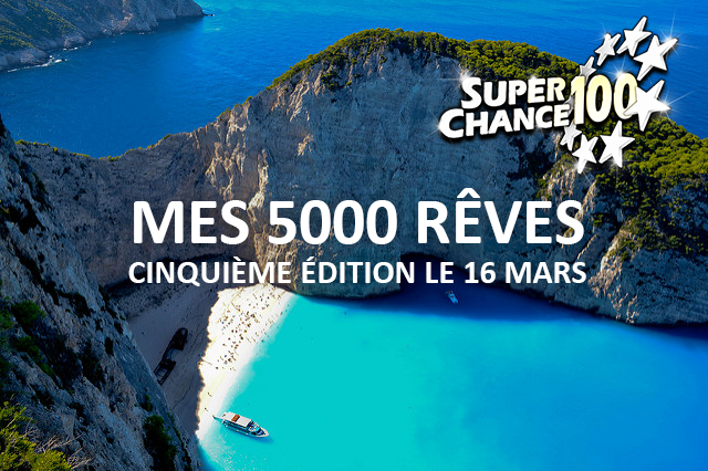 """Cinquième édition du jeu concours """"mes 5000 rêves""""."""