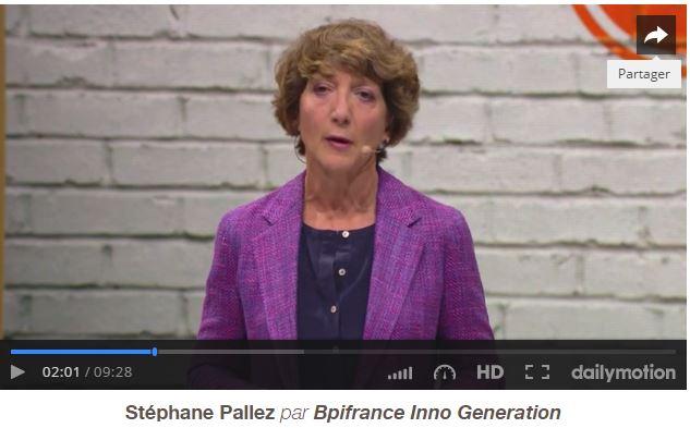 Capture d'écran d'un discours de Stéphane Pallez sur Dailymotion.