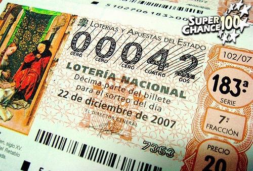 Ticket de la loterie espagnole El Gordo