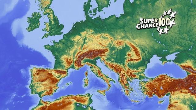 Une carte d'Europe.