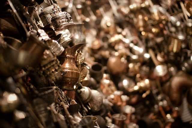 Un tas d'objets en or.