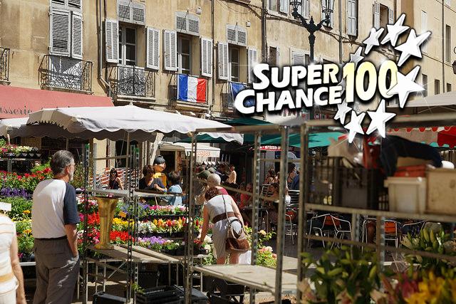 Photographie d'un marché à Aix en Provence.