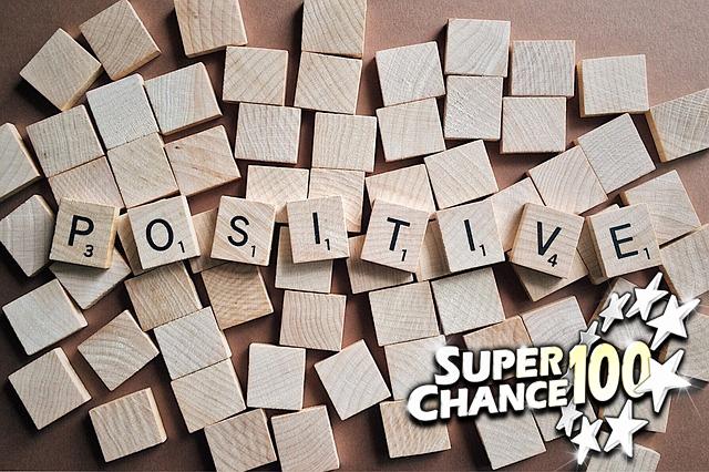 """Lettres du scrabble formant le mot """"positive"""""""
