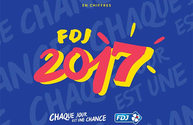 Bilan sur l'année 2017 de la FDJ.