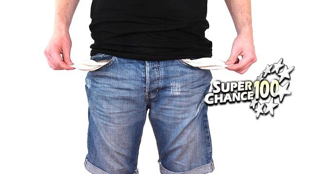 Quelqu'un qui n'a plus un sou en poche.