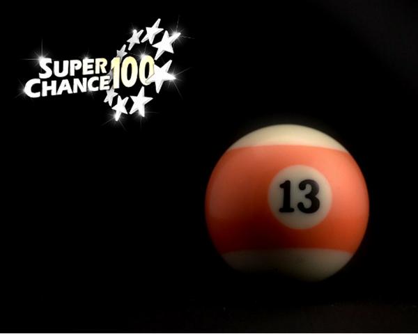 Boule de billard numéro 13.