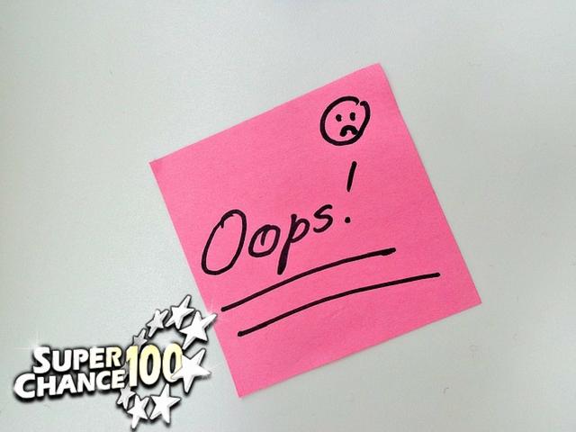 """Port-it rose sur lequel est écrit """"oops !""""."""