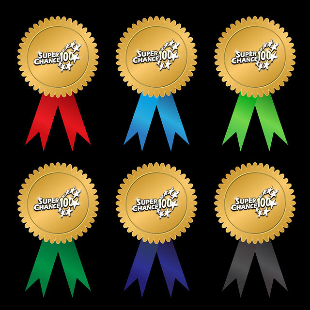 Médailles pour les gagnants de SuperChance100.