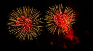 Un feu d'artifice pour la nouvelle année.
