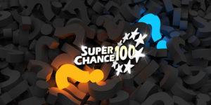 Point d'interrogation autour du logo de SuperChance100.