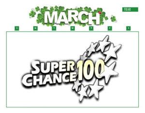 Calendrier du mois de mars pour les résultats de l'EuroMillions.