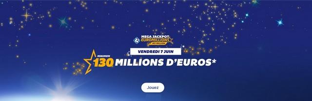 Méga jackpot de l'Euromillions.