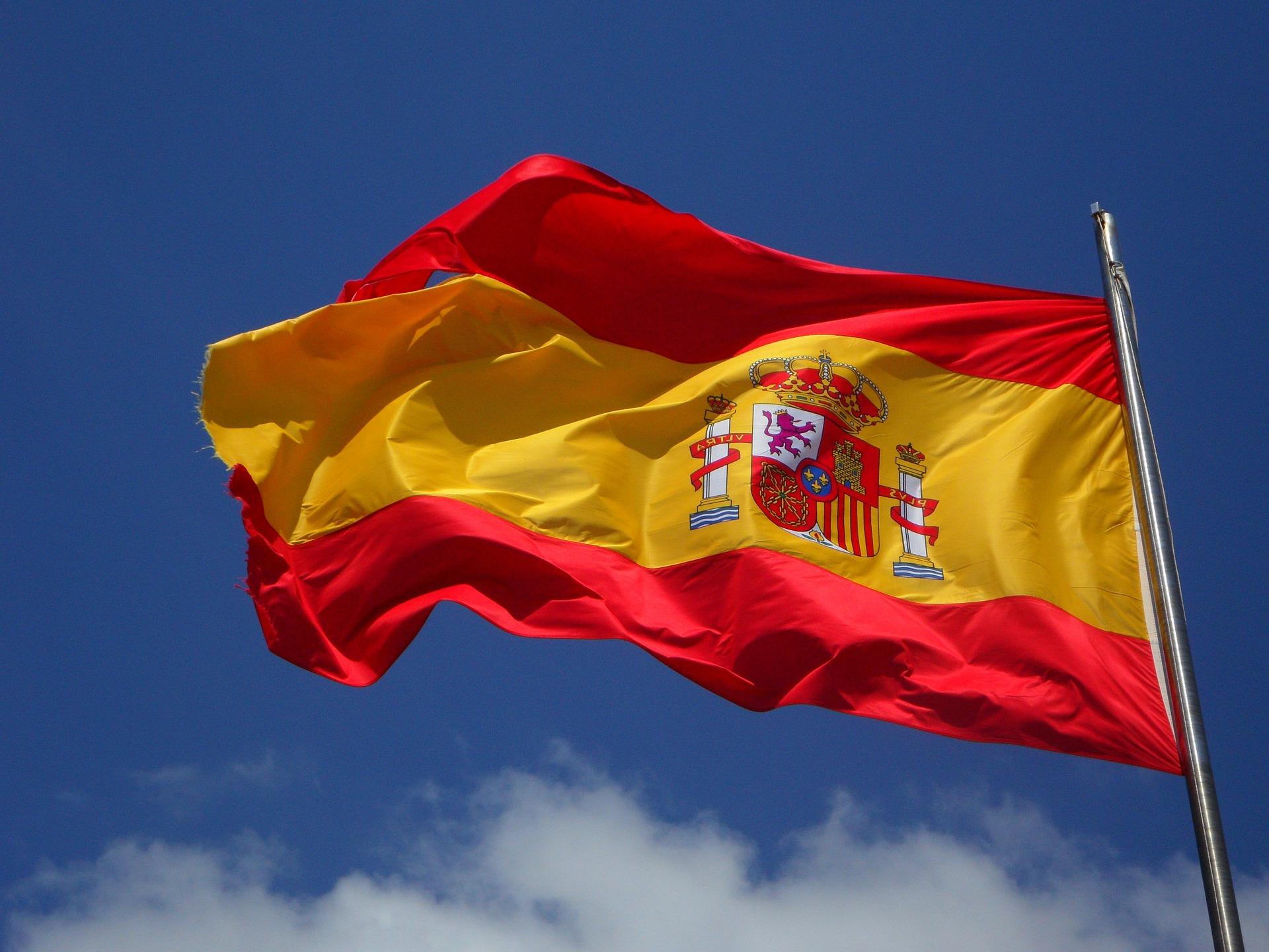 Le drapeau espagnol.