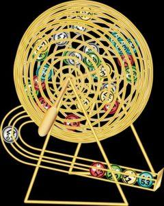 C'est une machine de tirage pour la loterie.