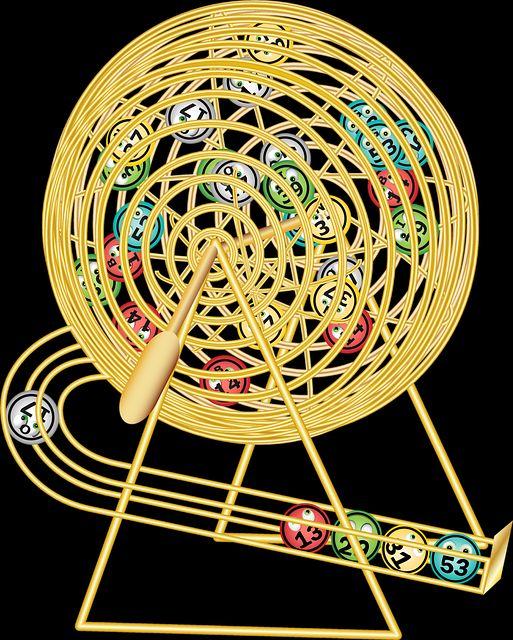 Une machine de tirage pour la loterie.