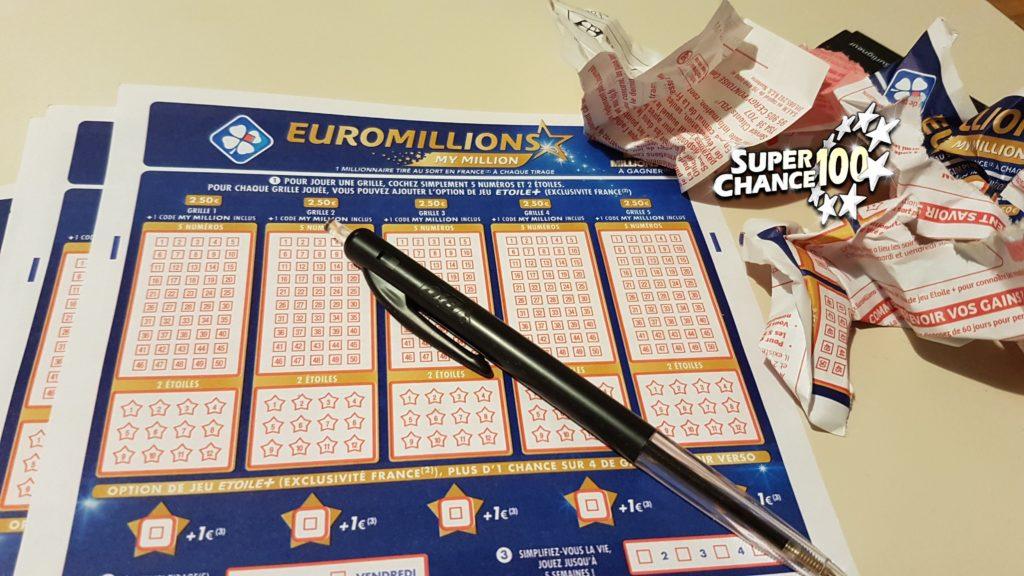 Des grilles d'EuroMillions à la chaine.
