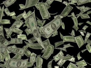 Ce sont des dollars qui s'envolent.
